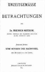 Unzeitgemässe Betrachtungen, II.